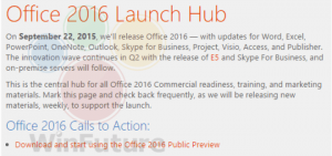 Office 2016 for Windows